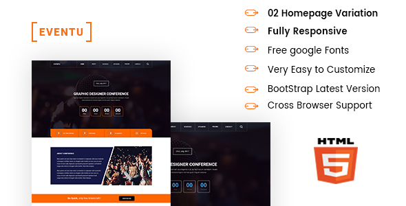 EVENTU - Event, Conference, Seminar HTML5 Responsive Template