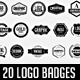 20 Vintage Logo Badges Set