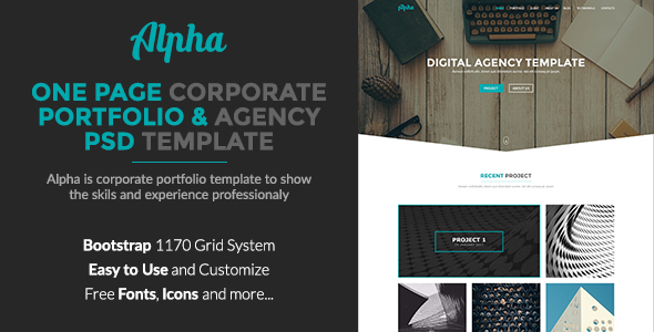 Alpha - Corporate Portfolio and Agency PSD Template