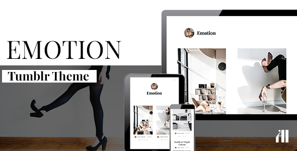 Emotion – Clean Tumblr Theme (Tumblr) images