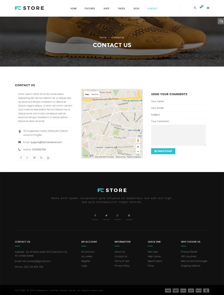 Gmail themes city - Fcstore Multipurpose Responsive Magento Theme