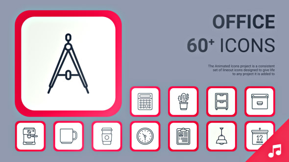 VideoHive Office Icons and Elements 19362328