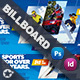 Winter Adventure Billboard Templates