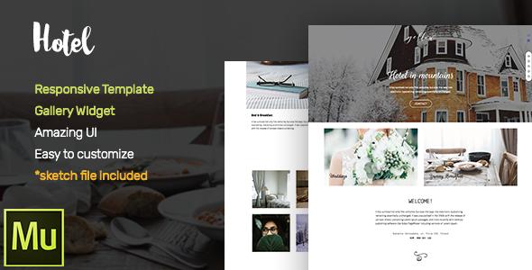 Hotel –  Adobe Muse CC Responsive Template + Gallery Widget (Corporate)