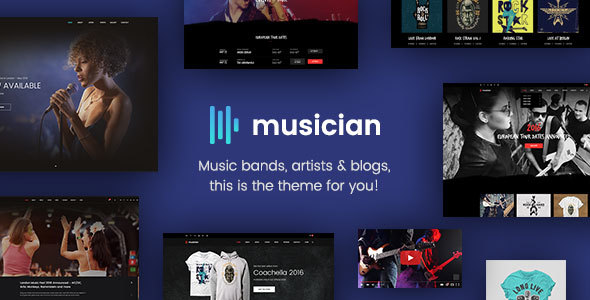 Musician – Music Band, Weblog, Shop HTML Template (Music and Bands)