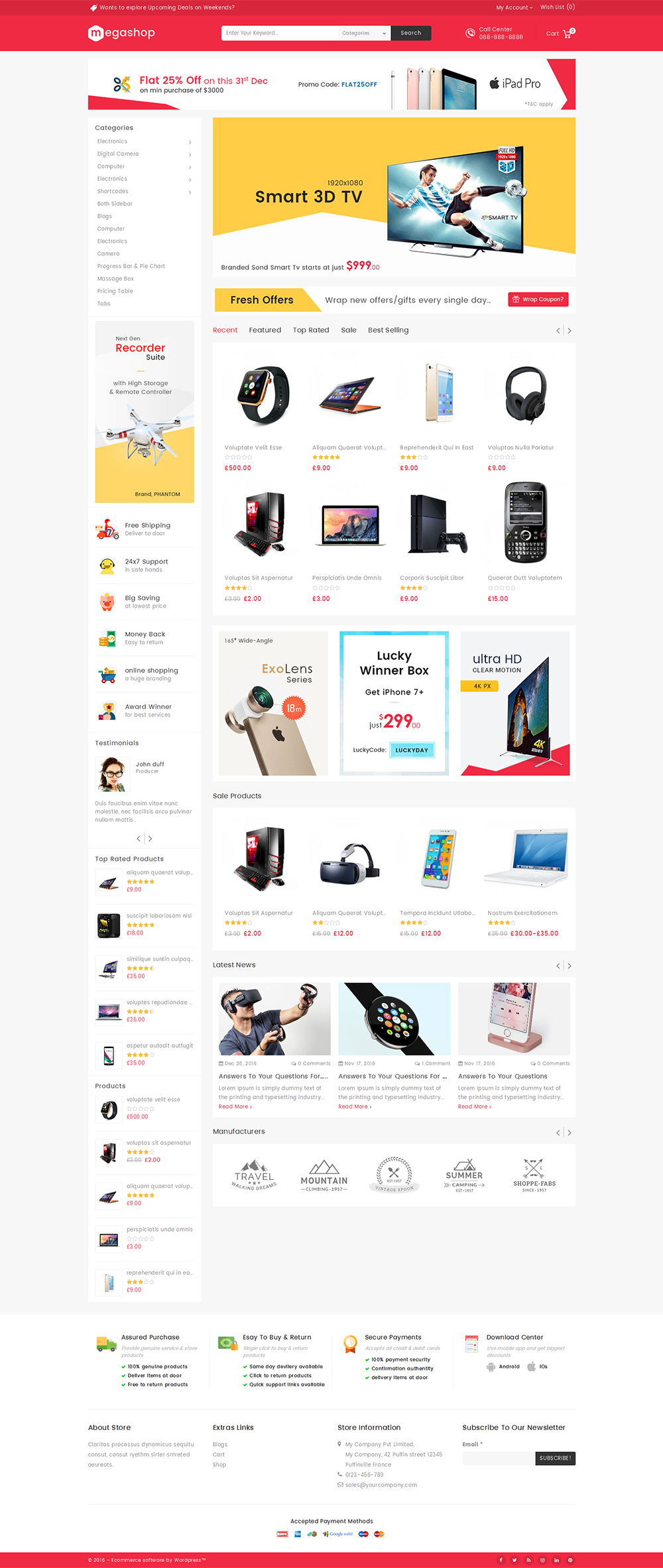 Mega Shop Woocommerce Multi Purpose Responsive Theme By
