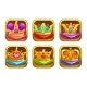Cool Game Icons with Golden Rare Crowns