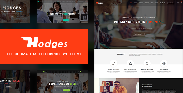 Hodges | Modern Business & Corporate Multi-Purpose WordPress Theme