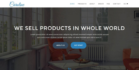 Caroline - OnePage E-Commerce Template (Business)