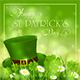 Patricks Day Background with Hat of Leprechaun