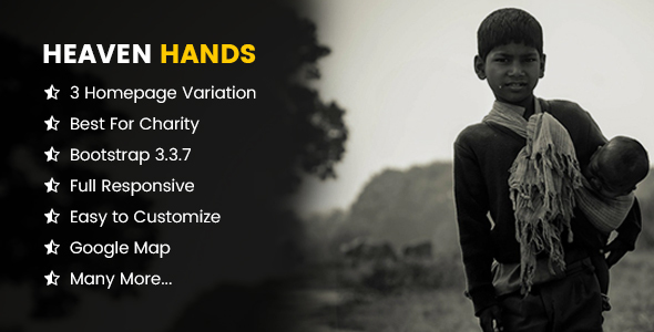 Heaven Hands- Responsive Charity & Fundraising HTML5 Template (Charity) Download
