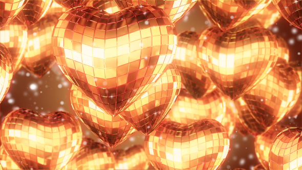 VideoHive Heart Gold Background 19404851