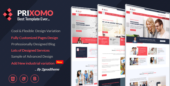 Prixomo - Business and Industrial HTML5 Template