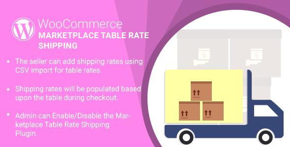 WordPress WooCommerce Marketplace Table Price Shipping Plugin (WooCommerce)