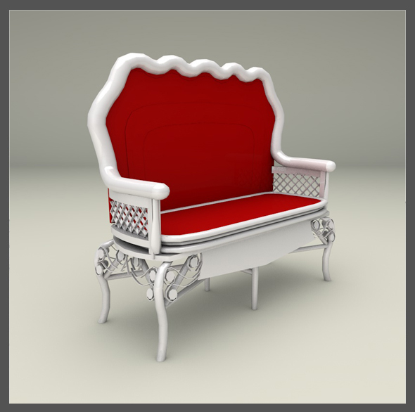 Sofa Wicker - 3DOcean Item for Sale