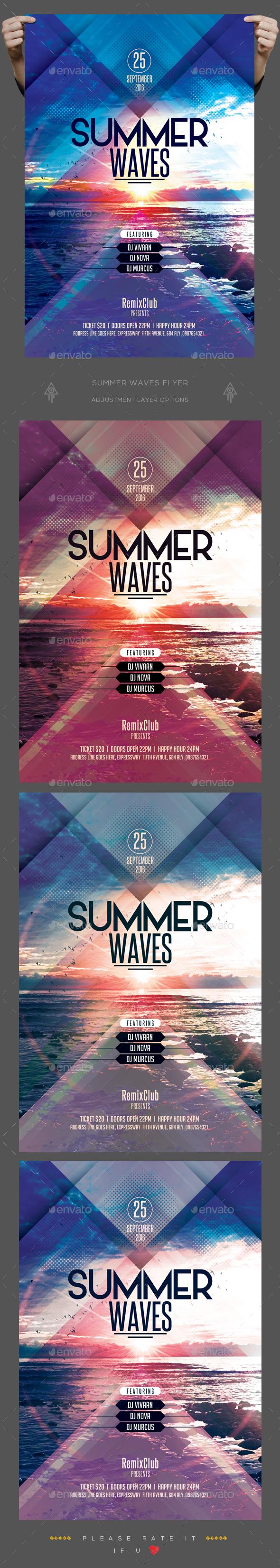 Summer Wave Flyer