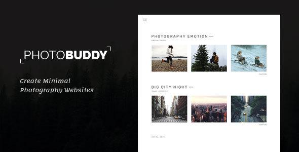 Photo Buddy - Photography, Portfolio, Minimal PSD Template