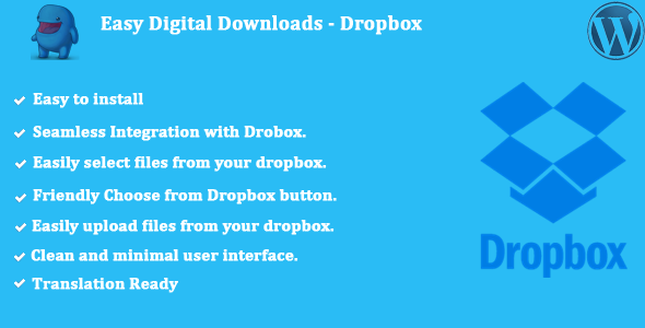 Easy Digital Downloads - Dropbox