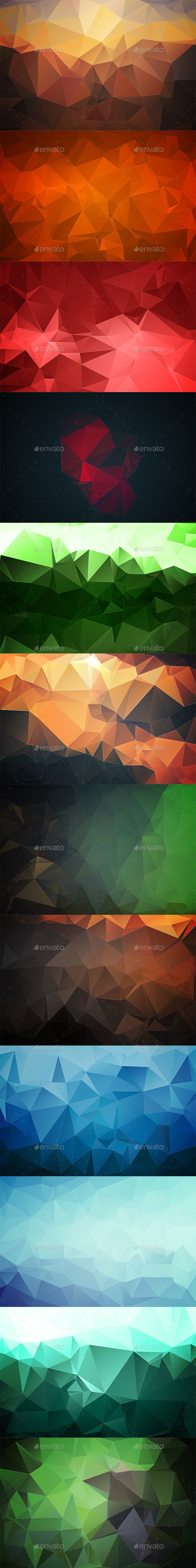 Abstract Polygonal Backgrounds Vol3