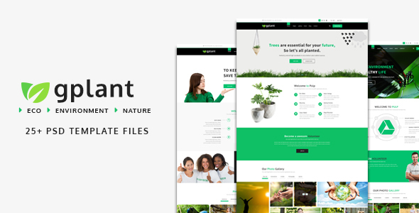 gPlant - Multipurpose ECO, Natural & Environmental PSD Template