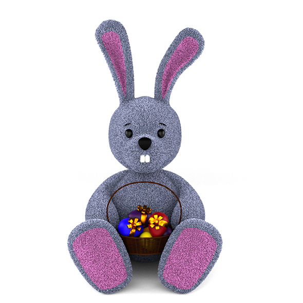 Rabbit With Easter Eggs - 3DOcean Item for Sale