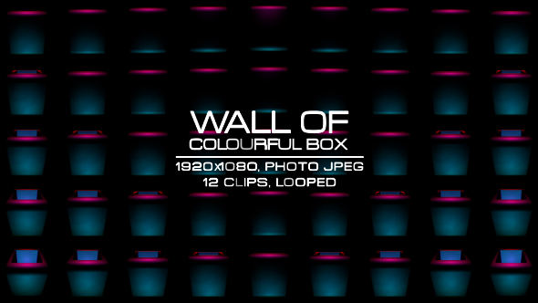 VideoHive Wall of Colorful Box VJ Kit 19406157