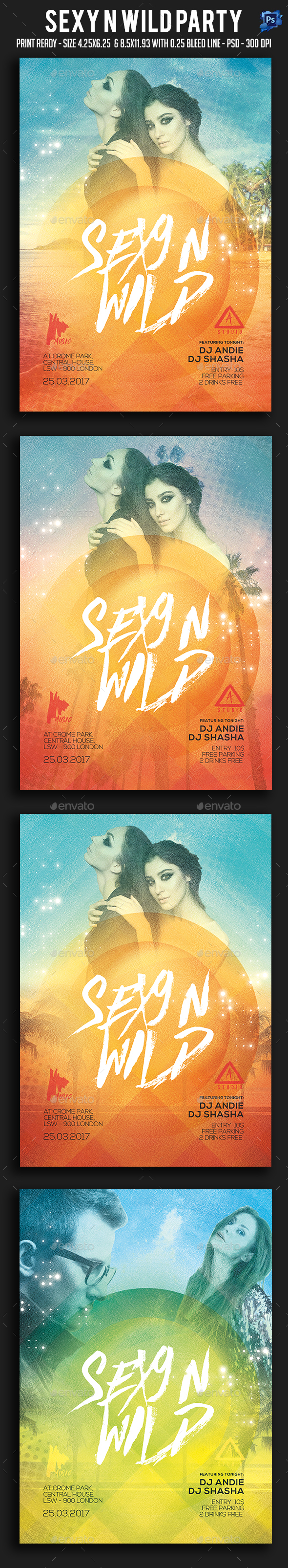Sexy N Wild Party Flyer