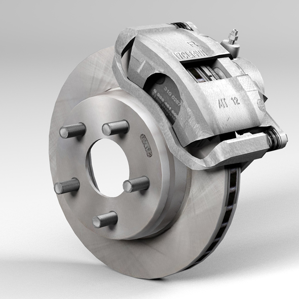 Car disk brake - 3DOcean Item for Sale
