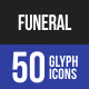 Funeral Glyph Icons