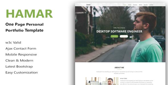 Hamar - Personal Portfolio html5 Template
