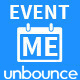 EventMe - Corporate Event Landing Unbounce Theme