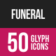 Funeral Glyph Inverted Icons