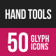 Hand Tools Glyph Inverted Icons