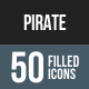 Pirate Flat Round Corner Icons