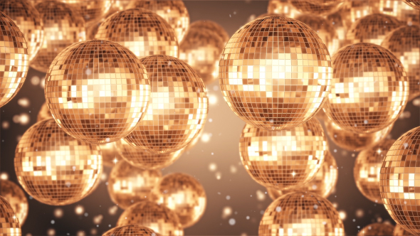 VideoHive Disco Ball Golden Background 19408341