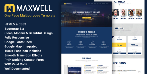Maxwell - Multipurpose Responsive HTML5 Template