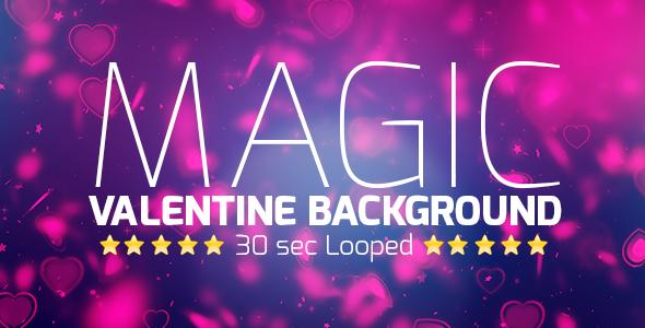 VideoHive Magic Valentine Background 19408436