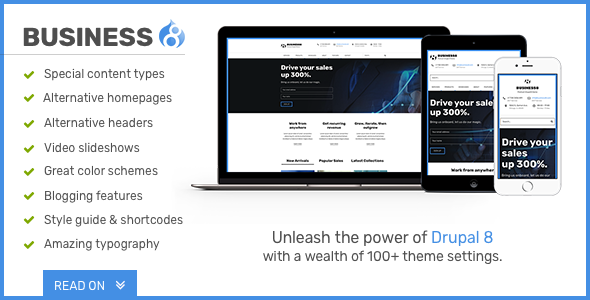 Image of Business8 - Drupal 8 Mega-Theme for Corporate/Business Sites