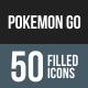 Pokemon Go Flat Round Corner Icons