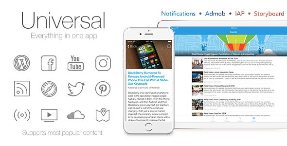 Universal for IOS - Full Multi-Purpose IOS app - CodeCanyon Item for Sale