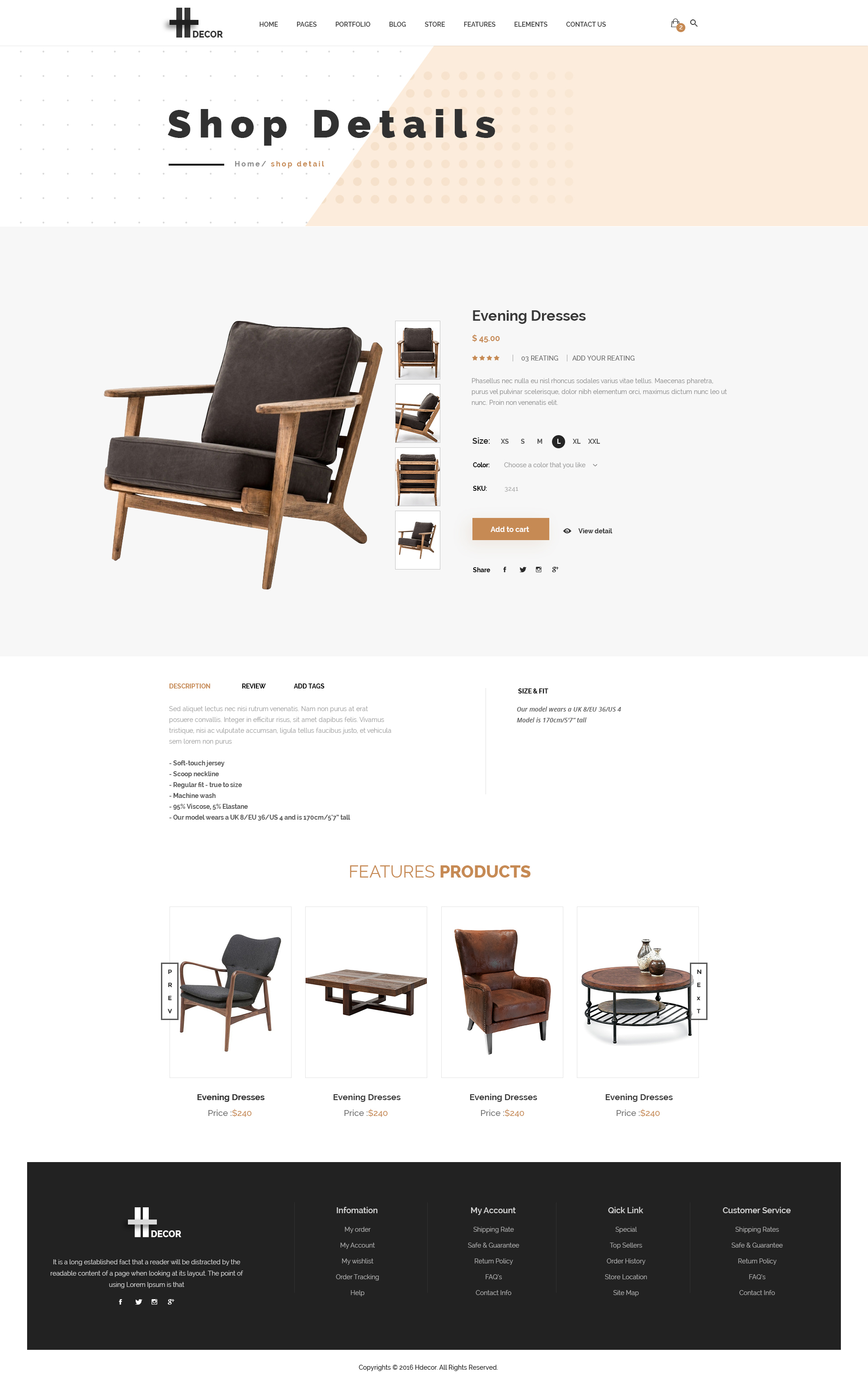 H decor creative psd template for furniture business for H furniture facebook