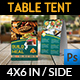 Restaurant Table Tent Template Vol.14