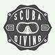 Vintage Diving Emblems
