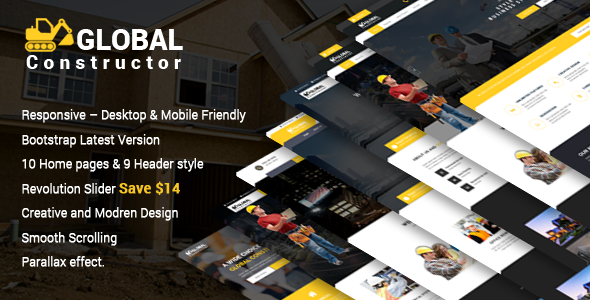 Global Constructor - Construction Single Page Bootstrap Template