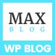 Max Blog - Minimal WordPress Blog Theme