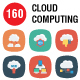 Cloud Computing Flat Square Icons