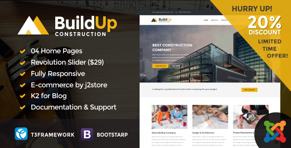 Buildup – Construction Joomla Template