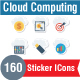 Cloud Computing Flat Paper Icon
