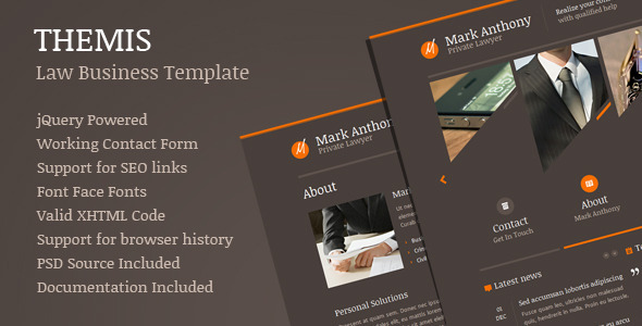 Themis - Law Business Template - Corporate Site Templates