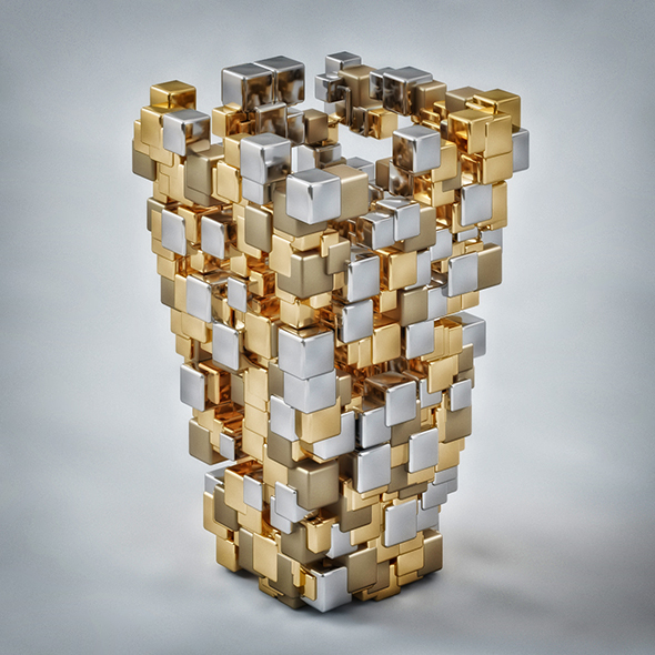 Metallic Vase - 3DOcean Item for Sale